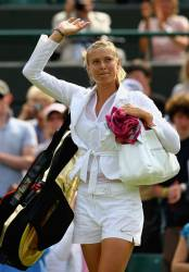 Maria Sharapova at Wimbledon tuxedo look