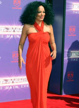 Diana Ross BET awards red carpet arrivals