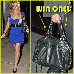 Lindsay Lohan Rebecca Minkoff handbag