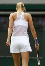 Maria Sharapova  Wimbledon tuxedo shorts, blouse