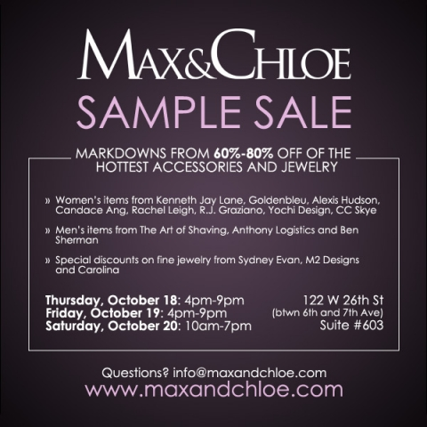 sample sale max and chloe