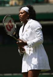 Serena Williams White Coat
