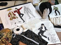 Michael Jackson tour costume sketches
