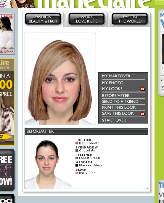 Virtual Hair Makeover: Virtual Makeover: Preview Trends In Hairstyles, Clothes