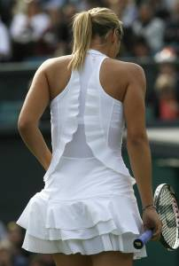 Maria Sharapova wimbledon dress