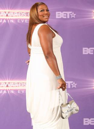 Queen Latifah BET awards arrivals