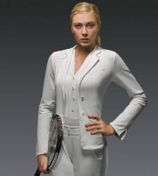 Maria Sharapova tuxedo outfit wimbledon