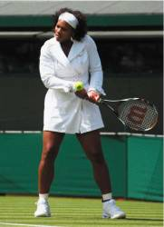 Serena Williams coat Wimbledon