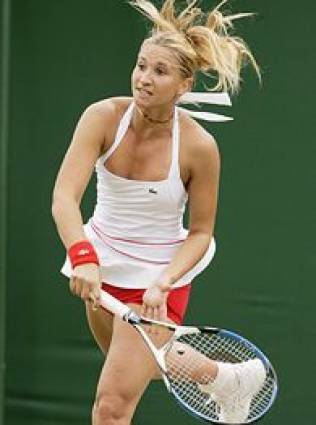 Tatiana Golovin red shorts