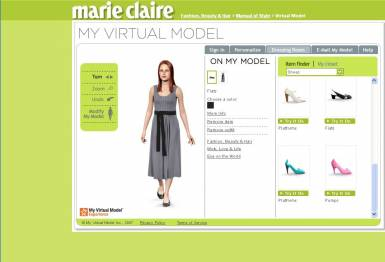 virtual makeover model